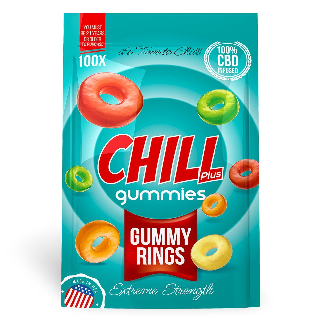 Chill Plus Gummies - CBD Infused Gummy Rings [Edible Candy] - My CBD Mall