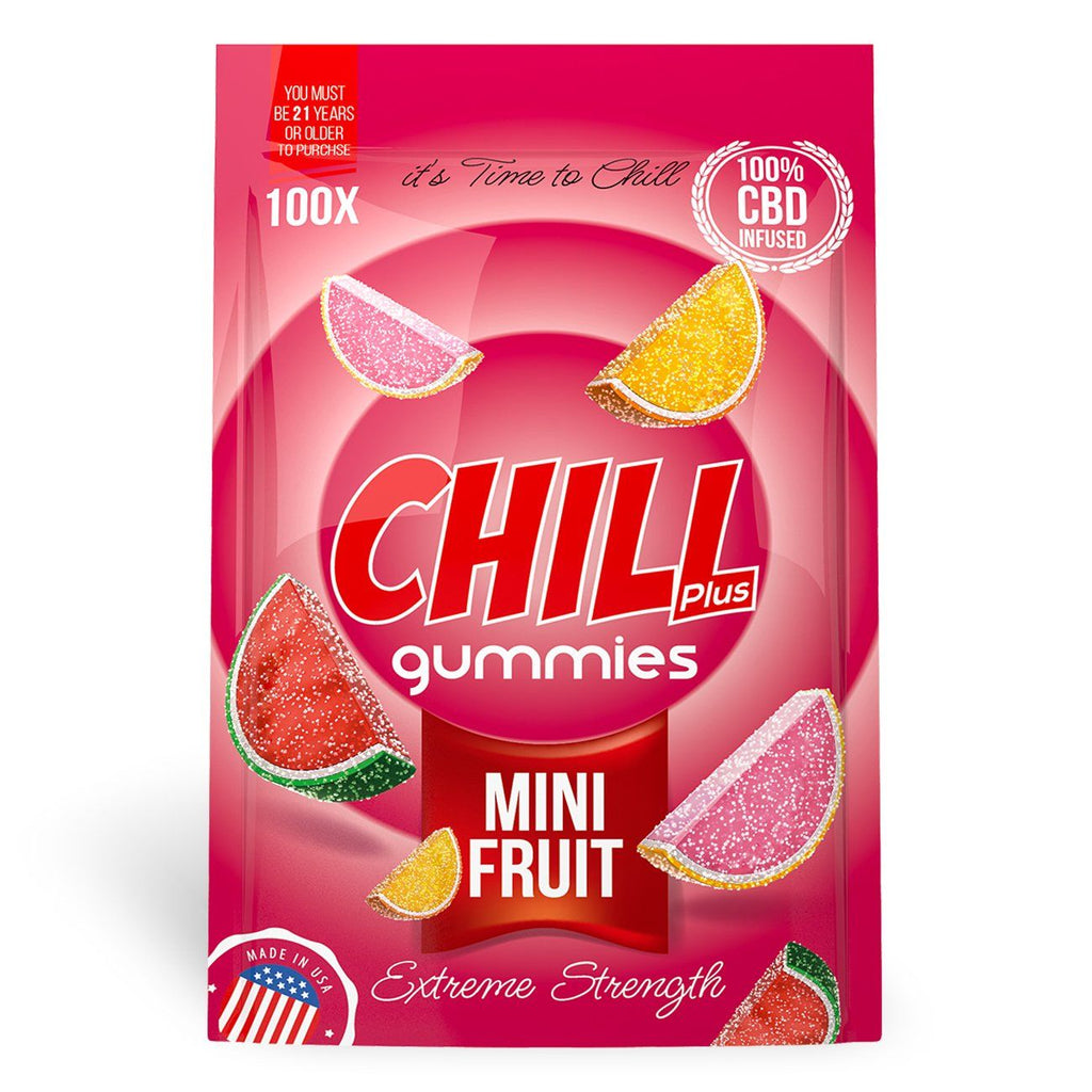 Chill Plus Gummies - CBD Infused Mini Fruits [Edible Candy] - My CBD Mall