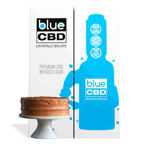 Hazelnut Coffee Cake Flavor Blue CBD Crystal Isolate - My CBD Mall