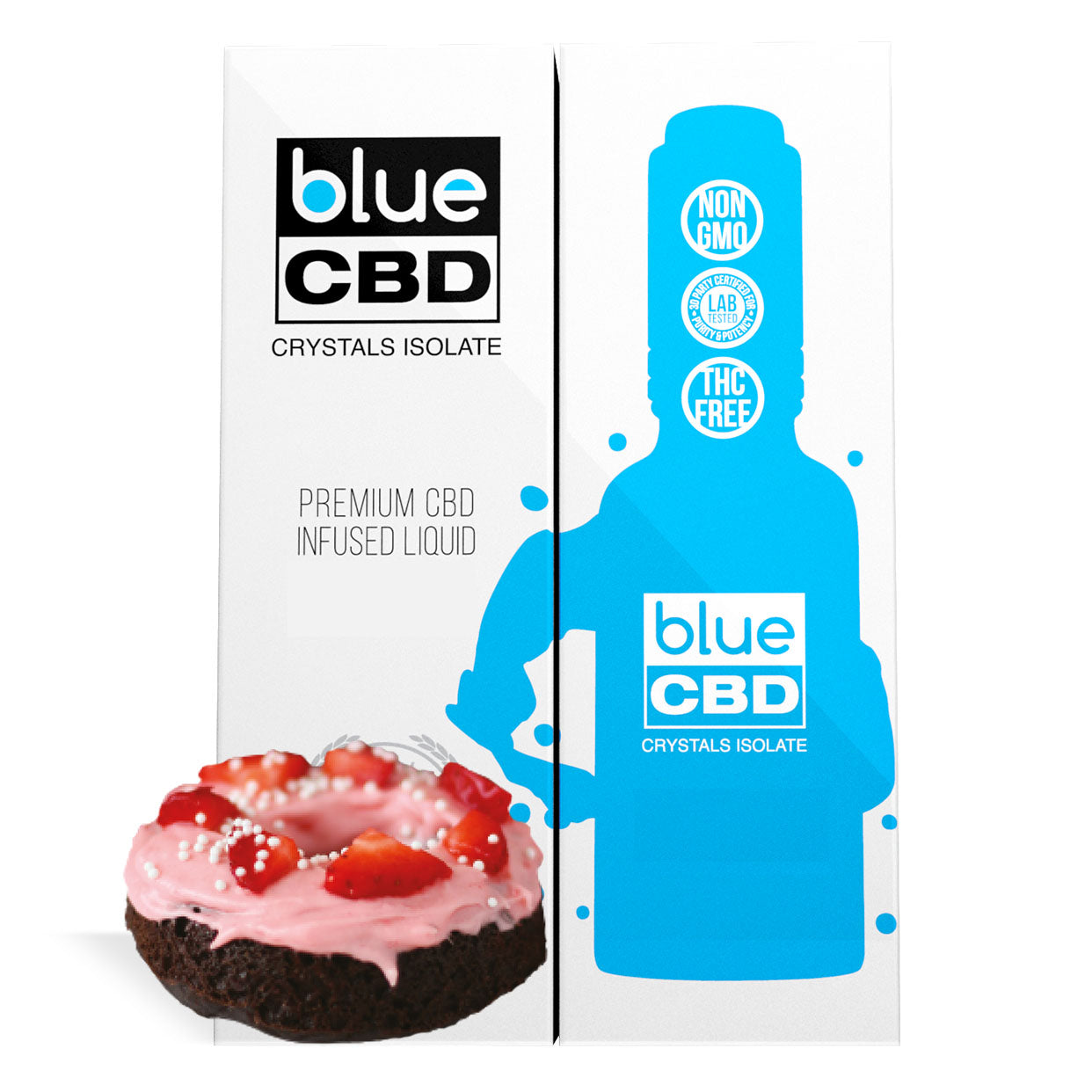 Strawberry Frosted Donut Flavor Blue CBD Crystal Isolate - My CBD Mall