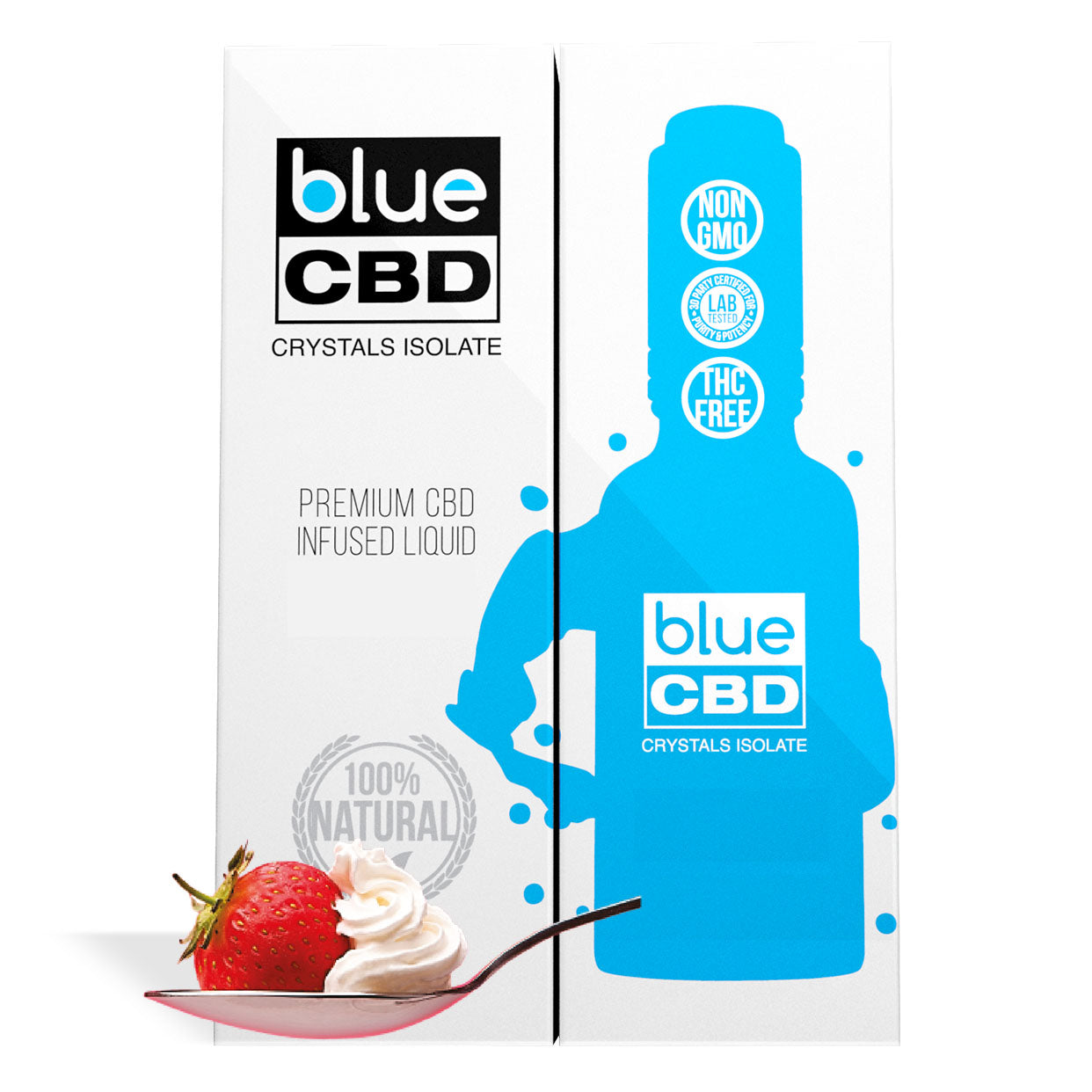 Strawberry and Creme Flavor Blue CBD Crystal Isolate - My CBD Mall