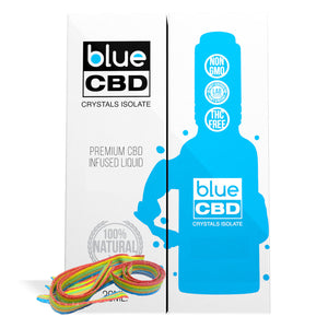 Rainbow Stripes Flavor Blue CBD Crystal Isolate - My CBD Mall