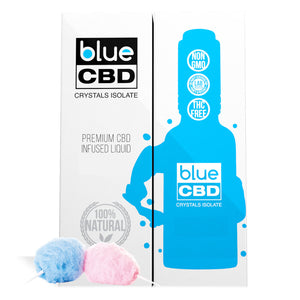 Blue CBD Crystal Isolate Cotton Candy Flavor - My CBD Mall