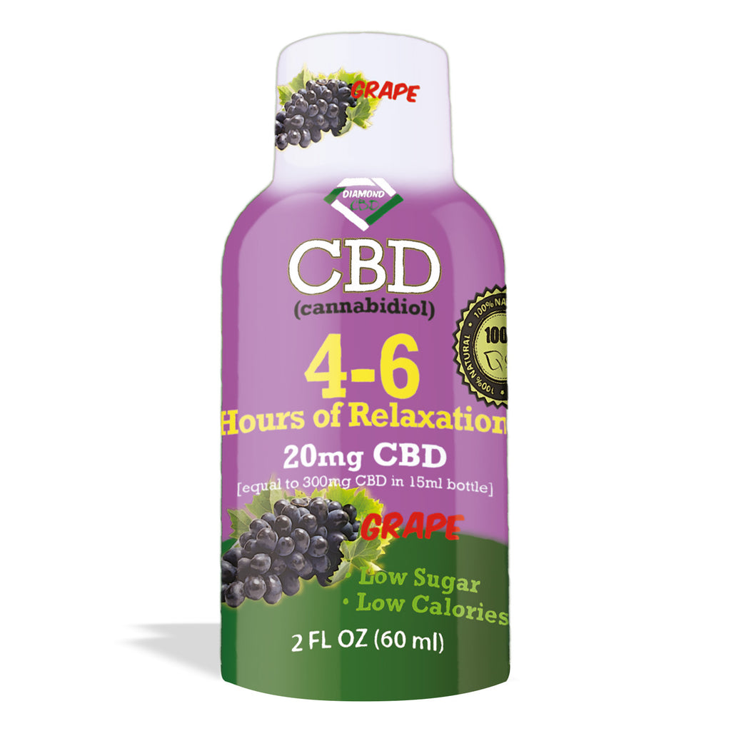 4-6 Hours of Relaxation Diamond CBD Shot 20mg (60ml) - My CBD Mall