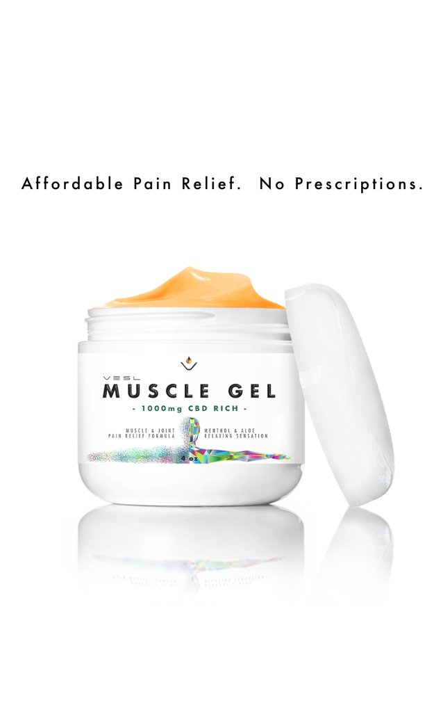 VESL CBD MUSCLE GEL 1000MG - My CBD Mall