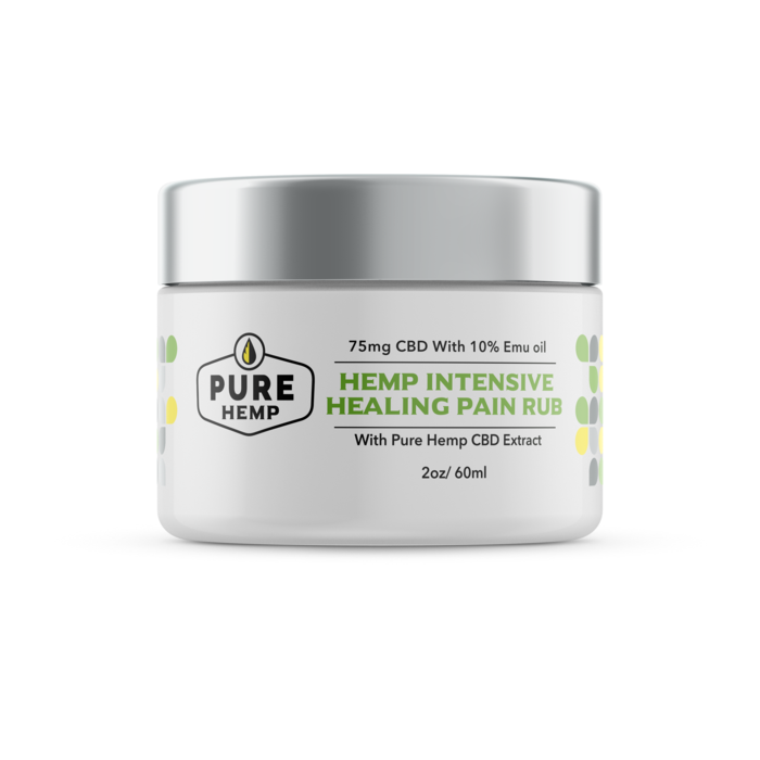 CBD Hemp Intensive Healing Pain Rub with Emu Oil - 75mg - My CBD Mall