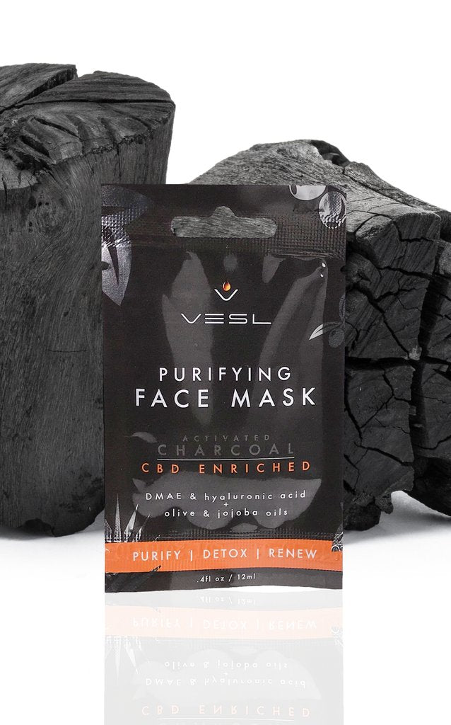 VESL PURIFYING FACE MASK - ACTIVATED CHARCOAL