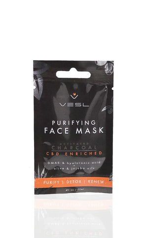 VESL PURIFYING FACE MASK - ACTIVATED CHARCOAL - My CBD Mall