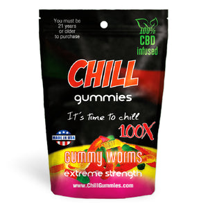 Chill Gummies - CBD Infused Gummy Worms [Edible Candy] - My CBD Mall