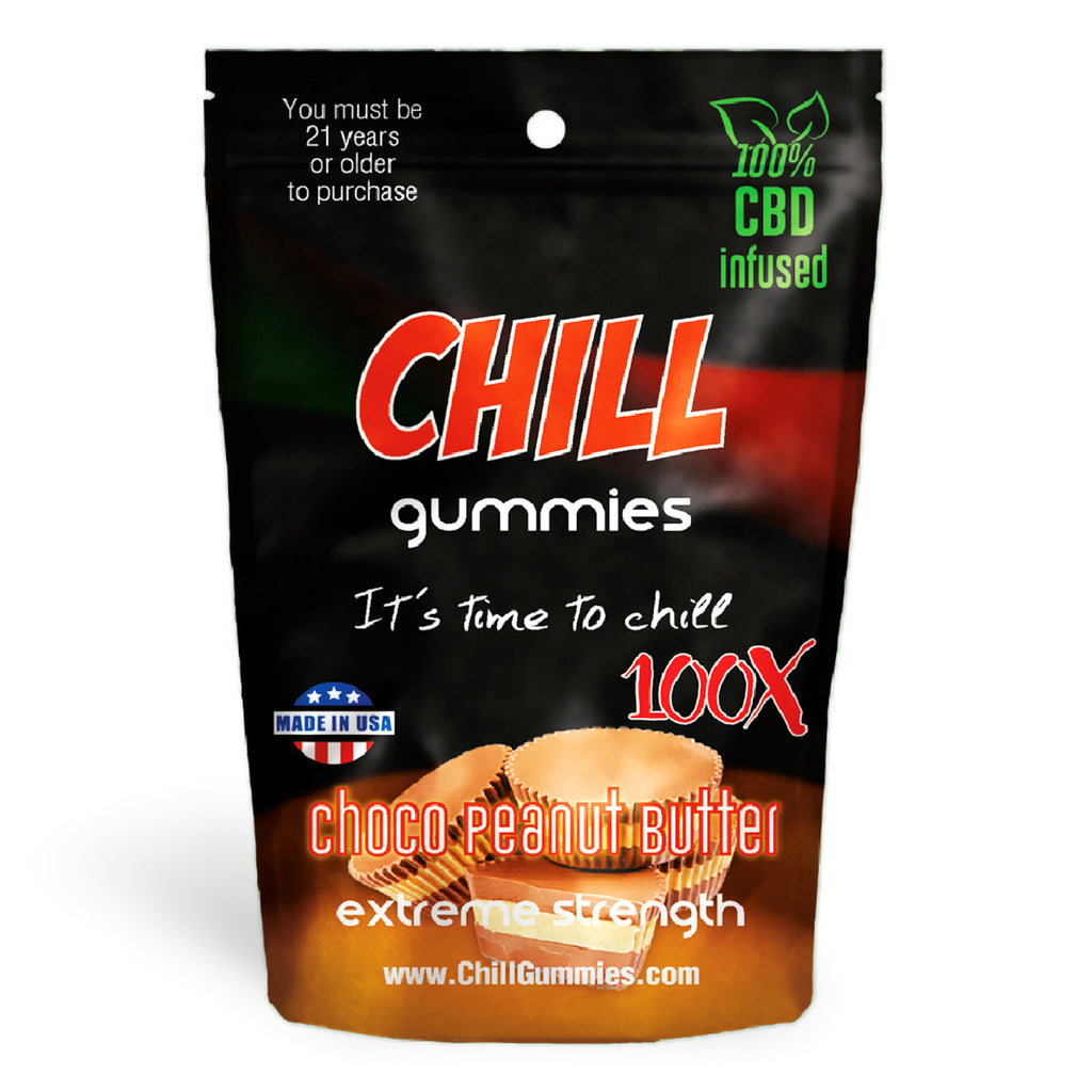 Chill Gummies - CBD Infused Choco Peanut Butter [Edible Candy] - My CBD Mall