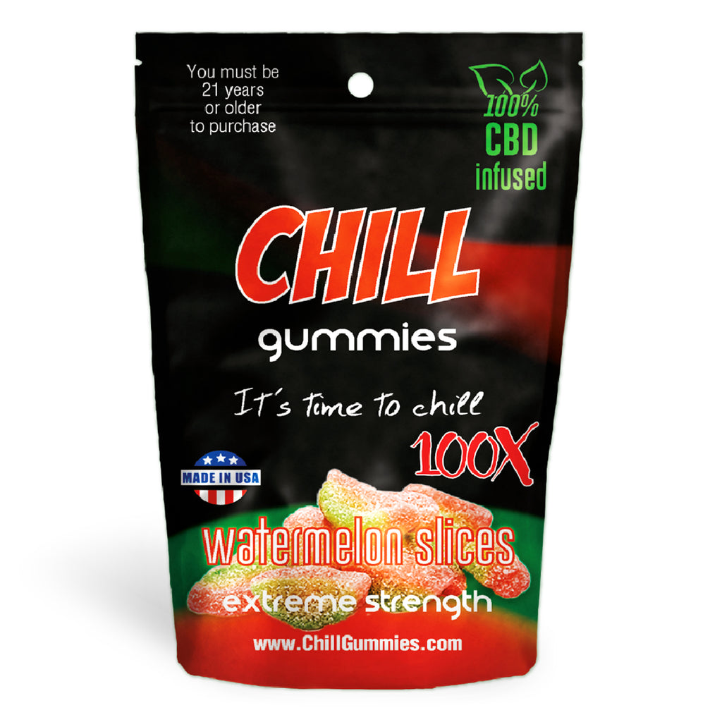 Chill Gummies - CBD Infused Watermelon Slices [Edible Candy] - My CBD Mall
