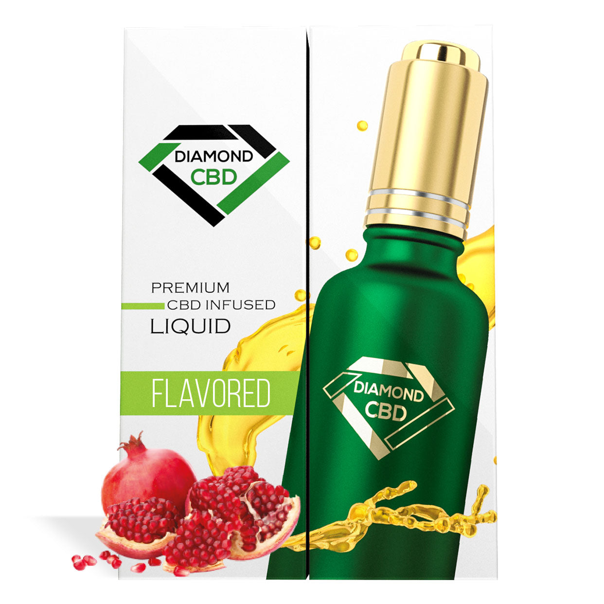 Pomegranate Flavor Diamond CBD Oil - My CBD Mall