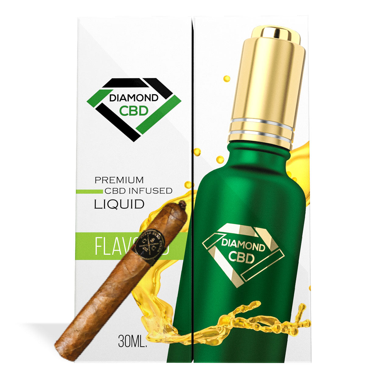 Havana Tobacco Flavor Diamond CBD Oil - My CBD Mall