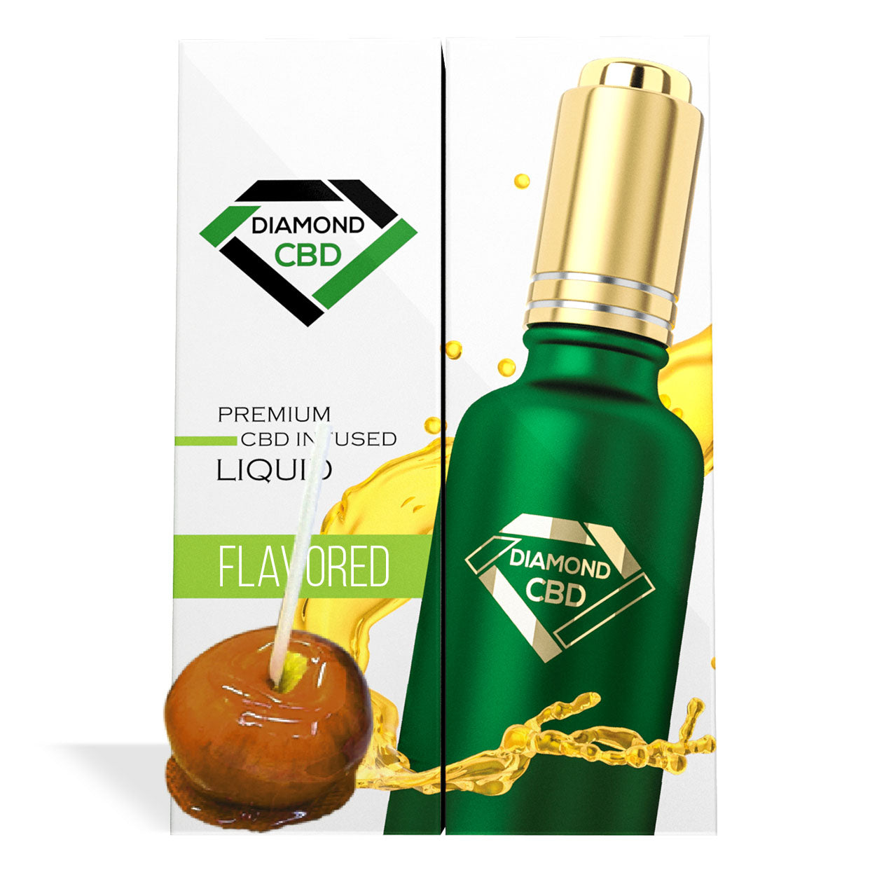 Caramel Apple Flavor Diamond CBD Oil - My CBD Mall