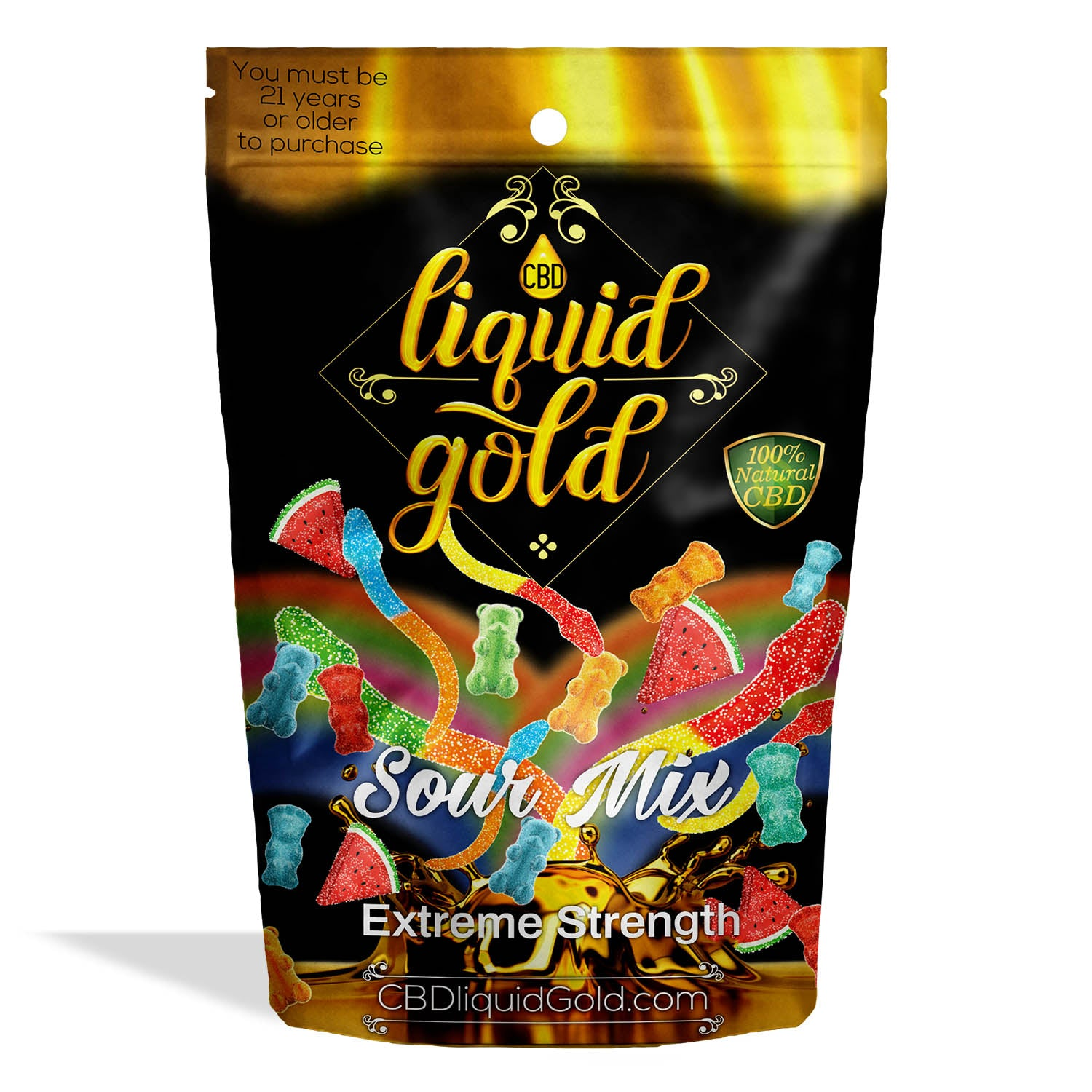 Liquid Gold Gummies Sour Mix - My CBD Mall