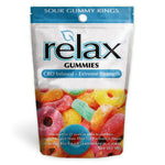 Relax Gummies - CBD Infused Sour Gummy Rings [Edible Candy] 200mg - My CBD Mall