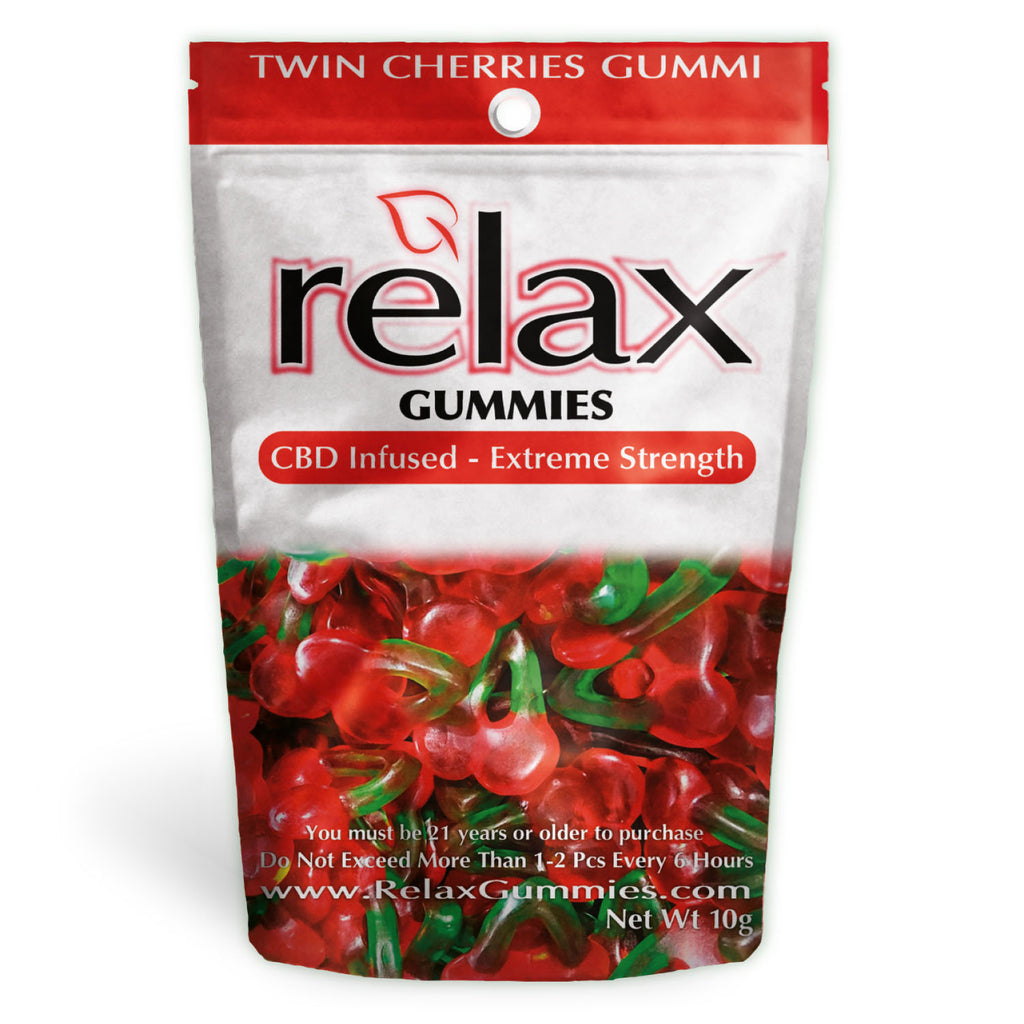 Relax Gummies - CBD Infused Twin Cherries [Edible Candy]