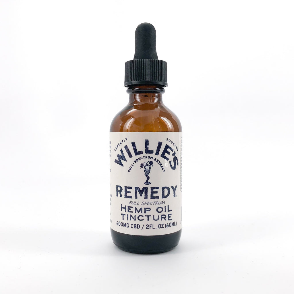 Willie's Remedy Full Spectrum Hemp Oil 600MG, CBD, 2 Fl. Oz. (10mg) - My CBD Mall