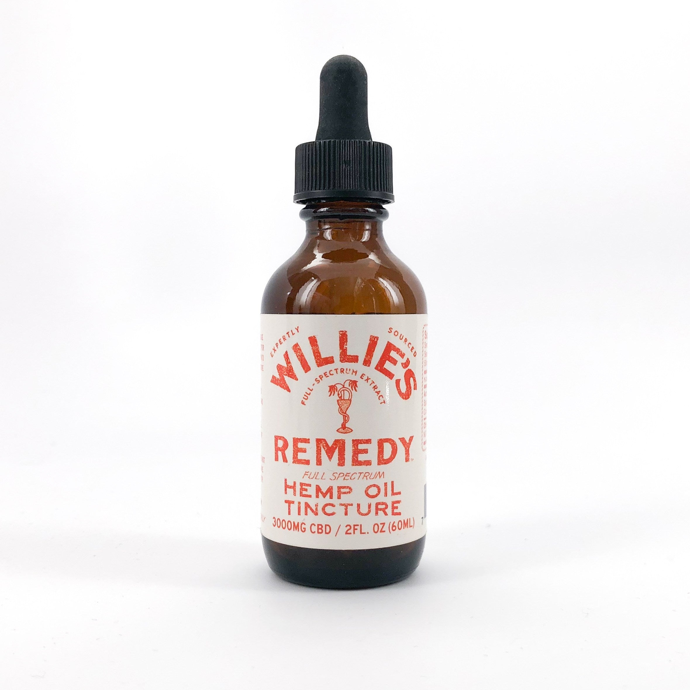 Willie's Remedy Full Spectrum Hemp Oil Tincture 3000MG CBD, 2 Fl. Oz. (50mg) - My CBD Mall
