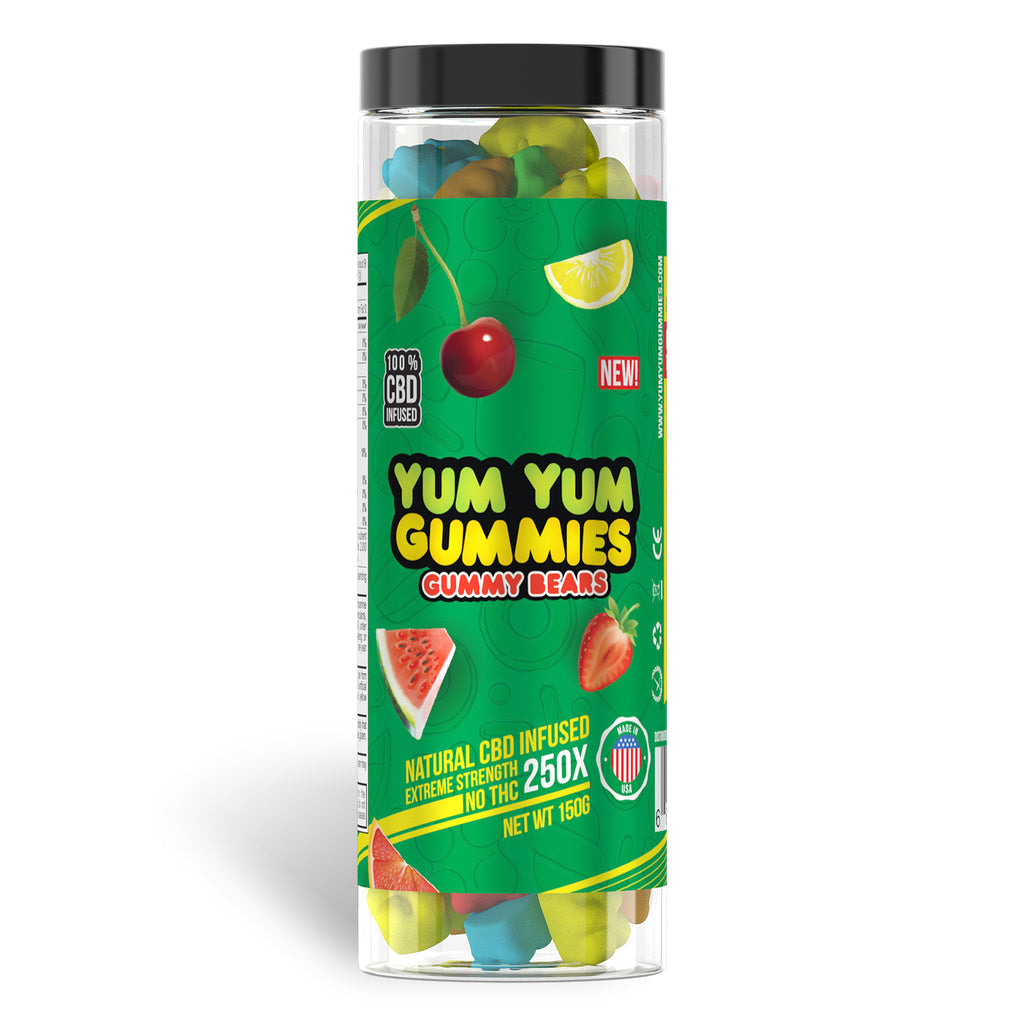 Yum Yum Gummies 250x - CBD Infused [Edible Candy] - My CBD Mall