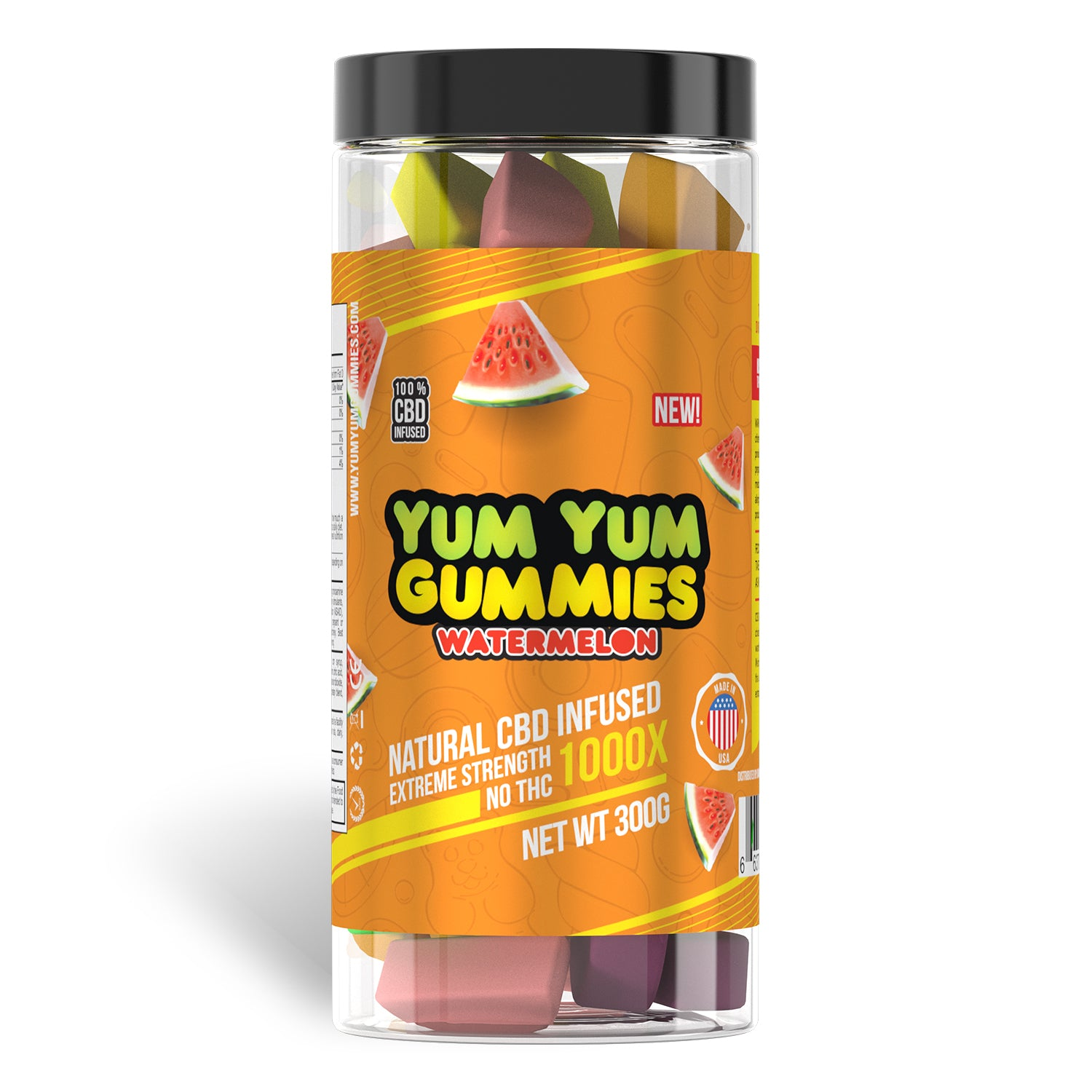 Yum Yum Gummies 1000x - CBD Infused Gummies [Edible Candy] - My CBD Mall