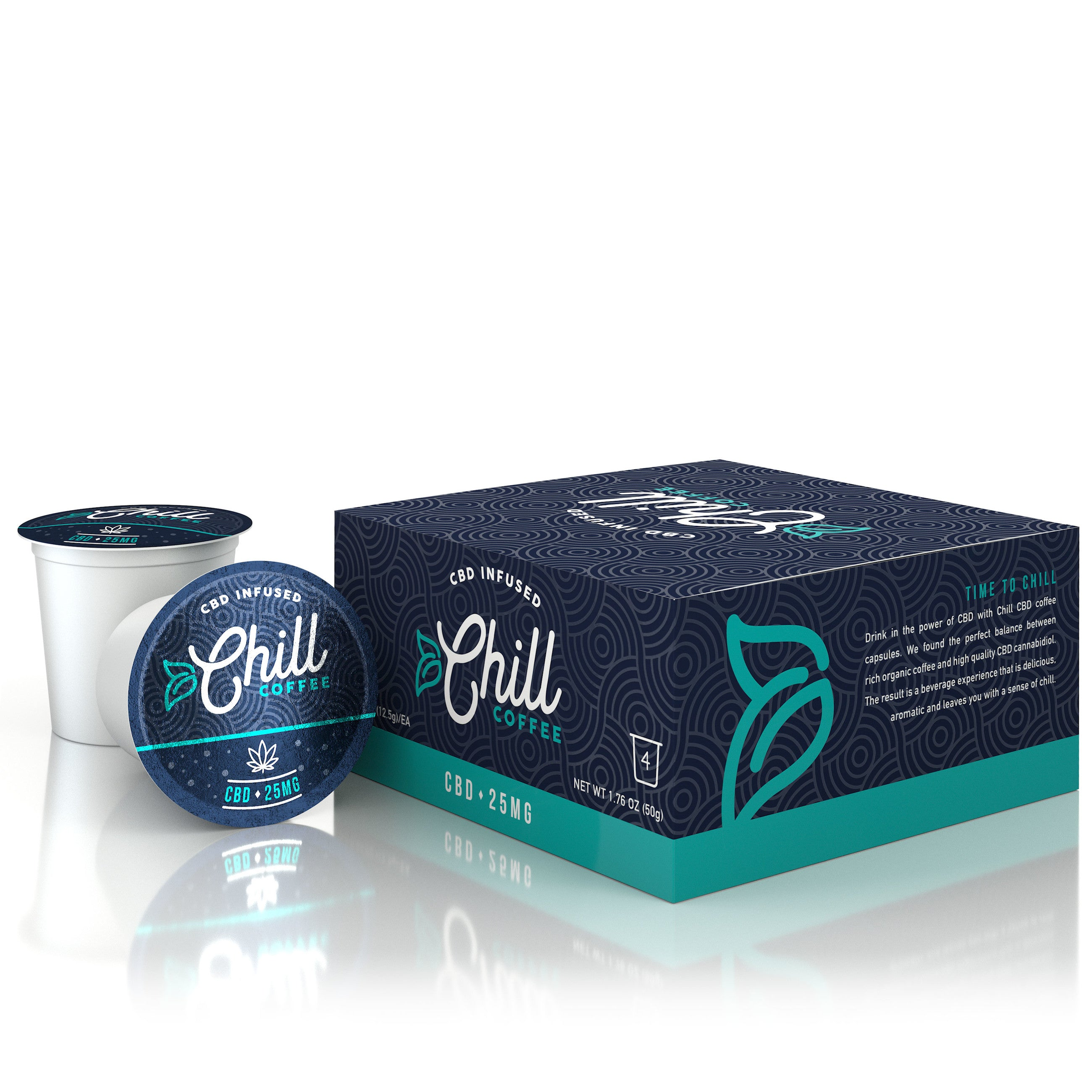 Chill CBD Coffee (4 pack) - 25mg - My CBD Mall