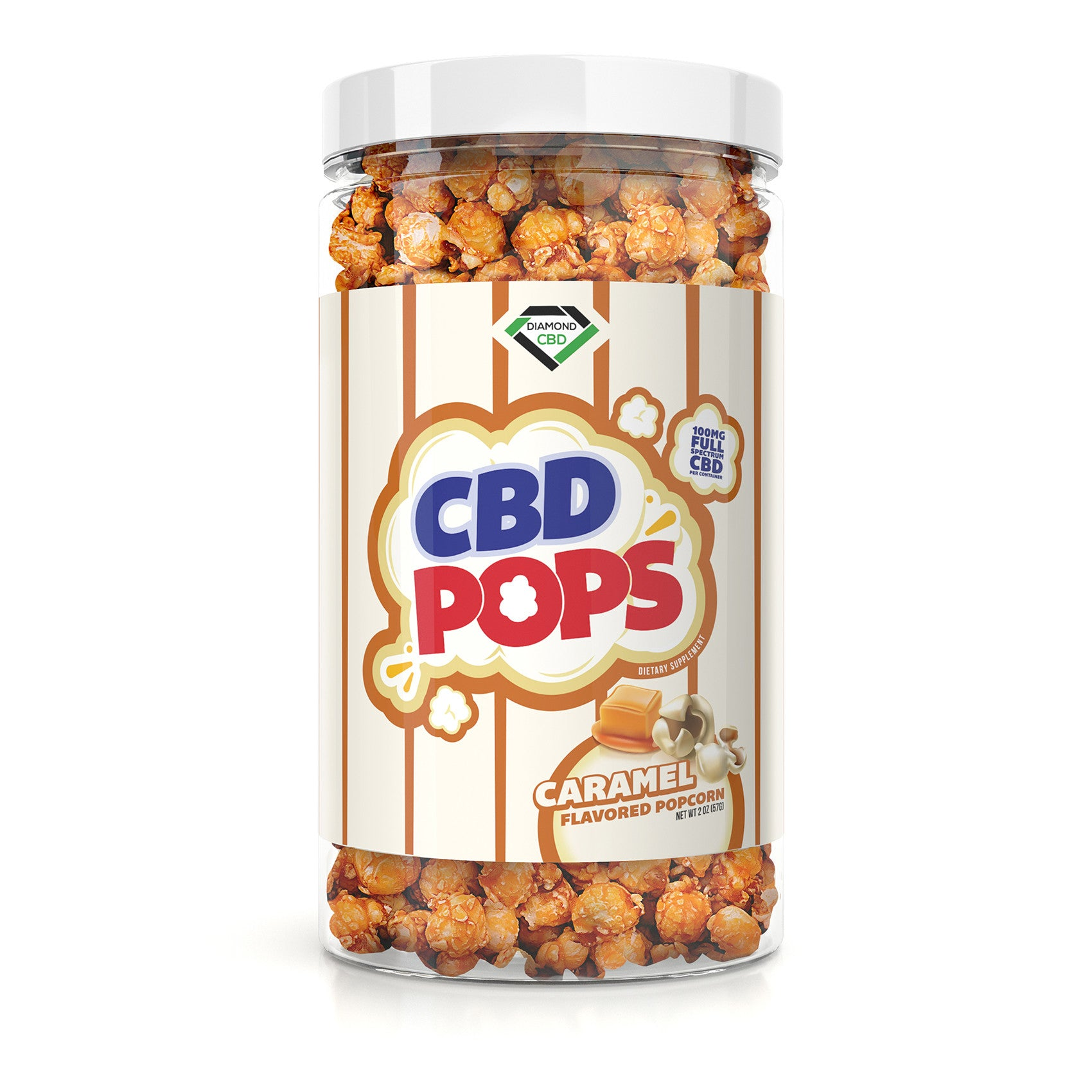 Diamond CBD Popcorn - Caramel Corn - 100mg - My CBD Mall