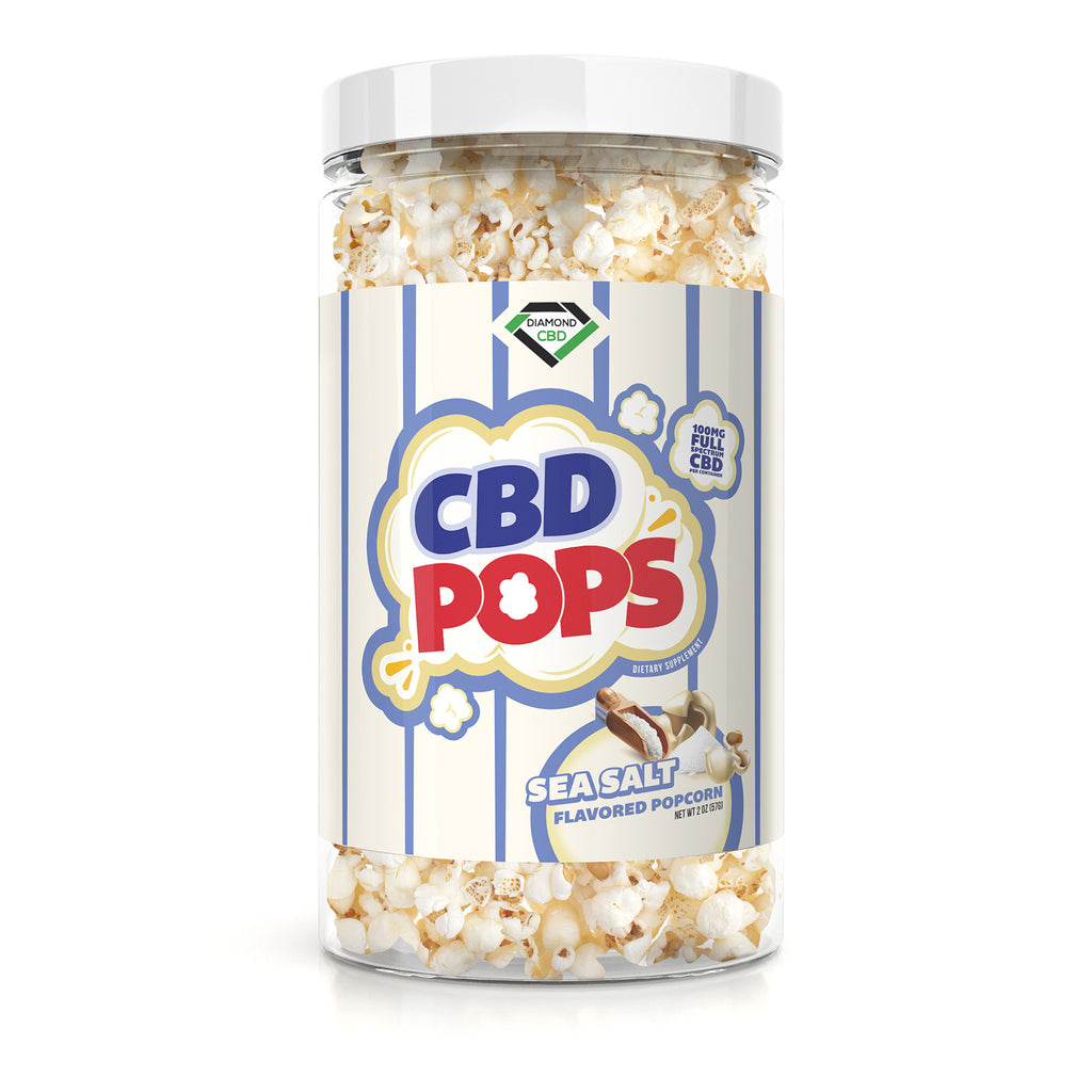 Diamond CBD Popcorn - Sea Salt - 100mg - My CBD Mall