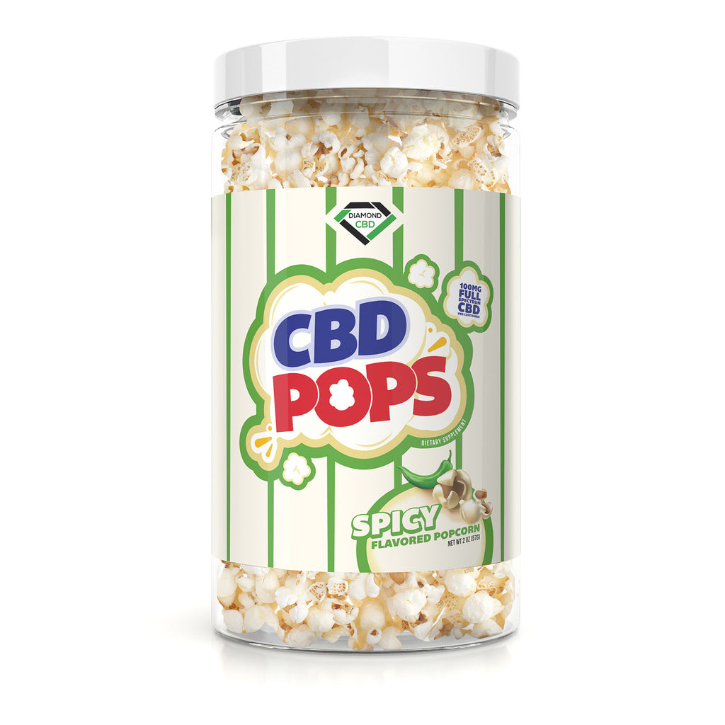 Diamond CBD Popcorn - Spicy - 100mg - My CBD Mall