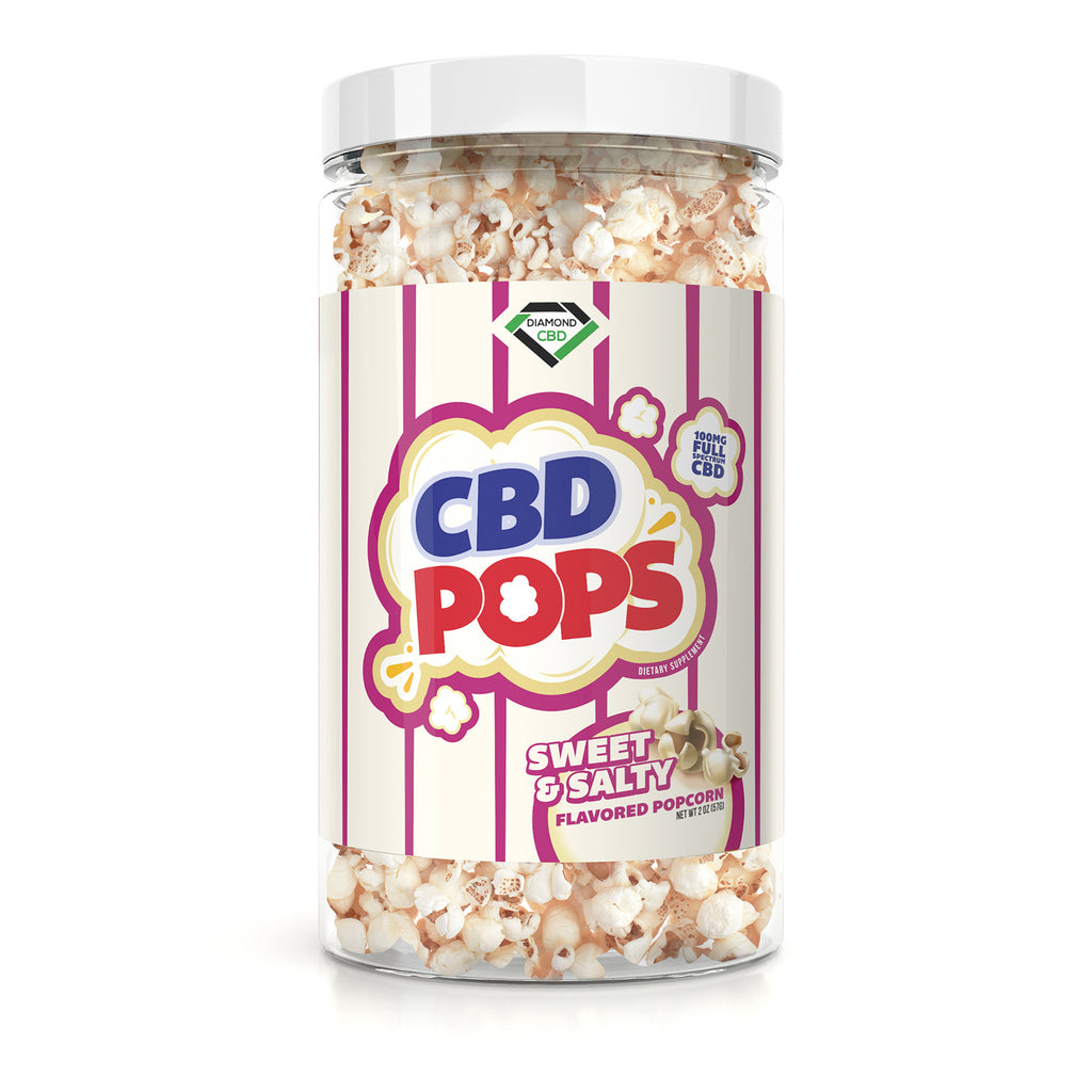 Diamond CBD Popcorn - Sweet & Salty - 100mg - My CBD Mall