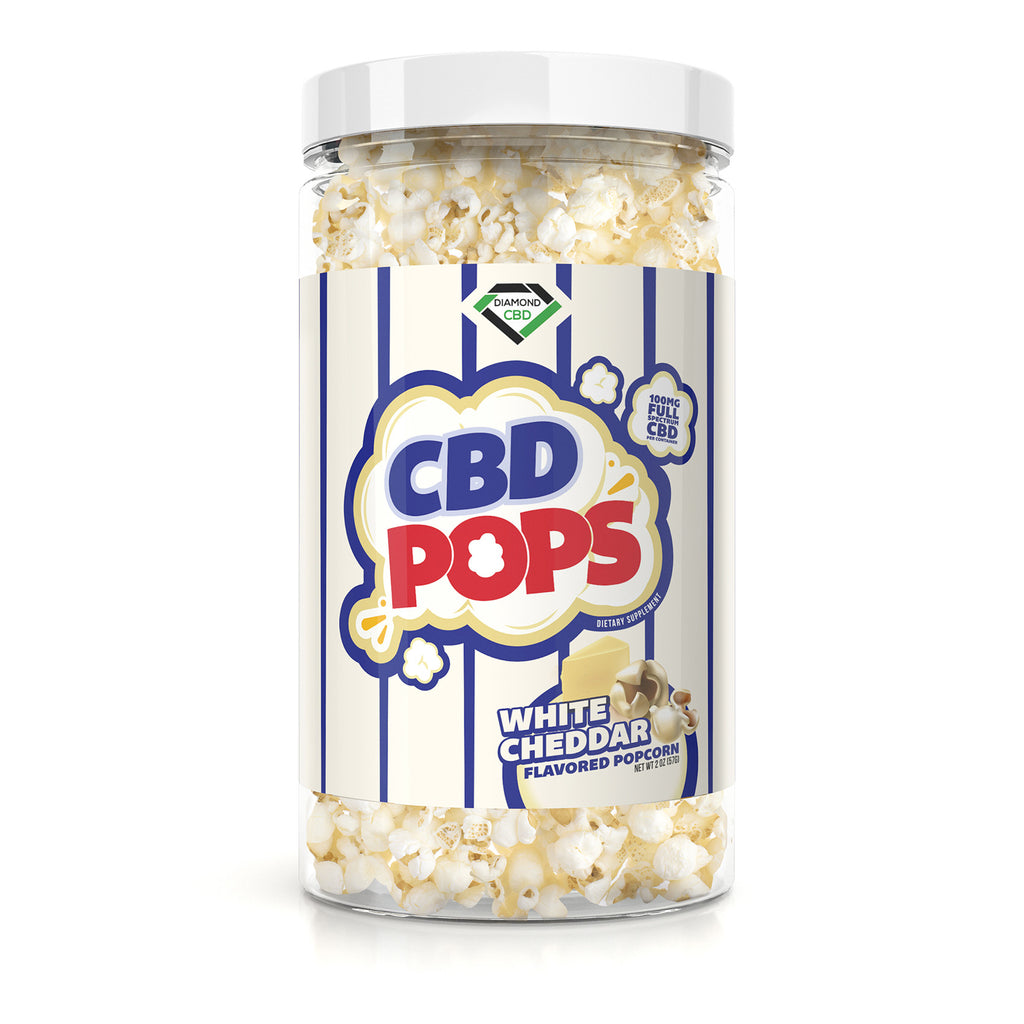 Diamond CBD Popcorn - White Cheddar - 100mg - My CBD Mall
