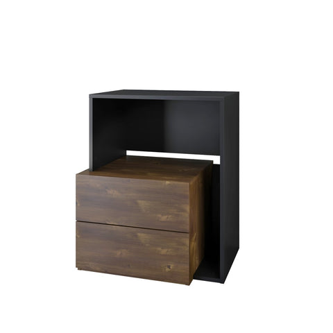 Paisley Audio Tower, 1-Drawer, Truffle and Black (3184263168064)