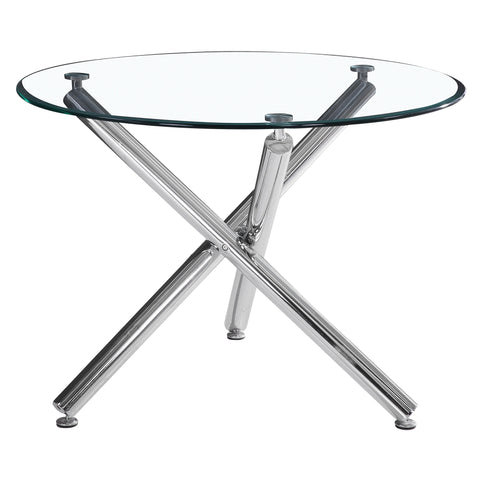 Solara Ii Round Dining Table Chrome (4415982796852)