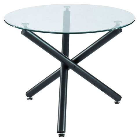 Suzette Round Dining Table Black