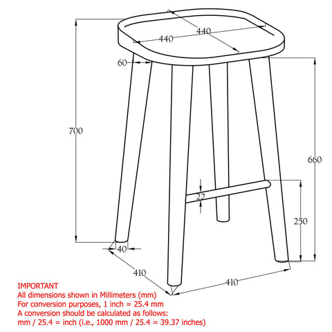 Tahoe 26'' Counter Stool Natural