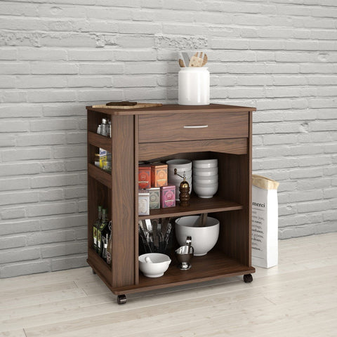 Giselle Mobile Microwave Cart, 1-Drawer