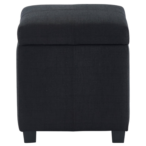 Juno Square Storage Ottoman Black
