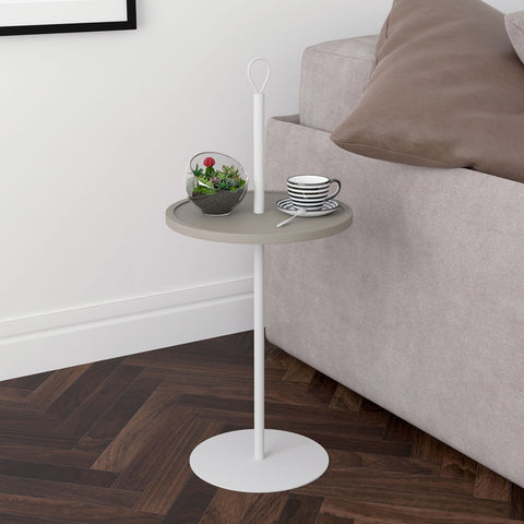 Felix Accent Table Taupe/Off-White