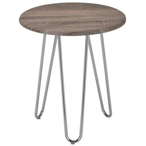Tario Accent Table Driftwood/Chrome