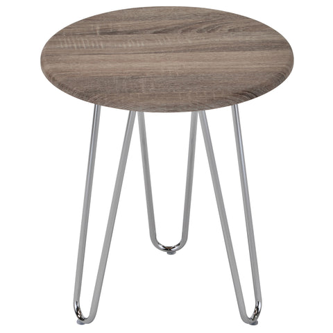 Tario Accent Table Driftwood/Chrome (4414637998132)