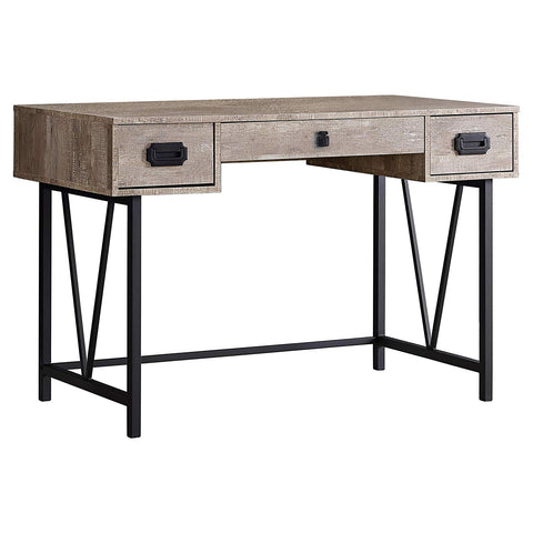 "Janyce Computer Desk - 48""L / Taupe Reclaimed Wood / Black Metal (4395920785460)"