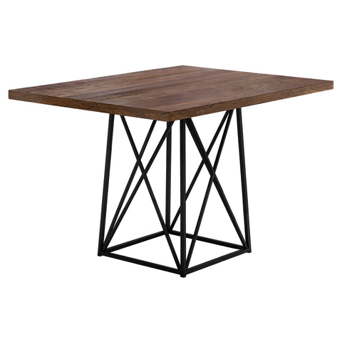 "Jeni Dining Table - 36""X 48"" / Brown Reclaimed Wood-Look/Black"