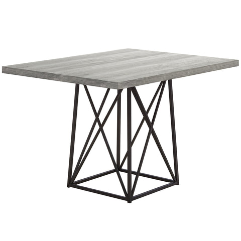 "Bao Dining Table - 36""X 48"" / Grey Reclaimed Wood-Look/ Black (4407605559348)"
