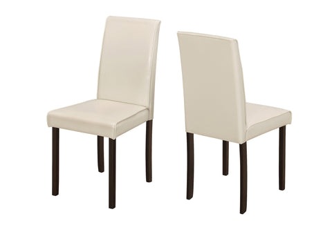 "Mitzie Dining Chair - 2Pcs / 36""H Ivory Leather-Look"