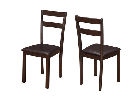 "Soo Dining Chair - 2Pcs / 35""H Cappuccino / Dark Brown Seat"