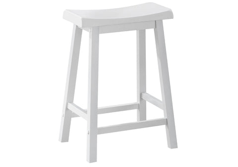 "Vanessa Barstool - 2Pcs / 24""H / White Saddle Seat (4397446103092)"