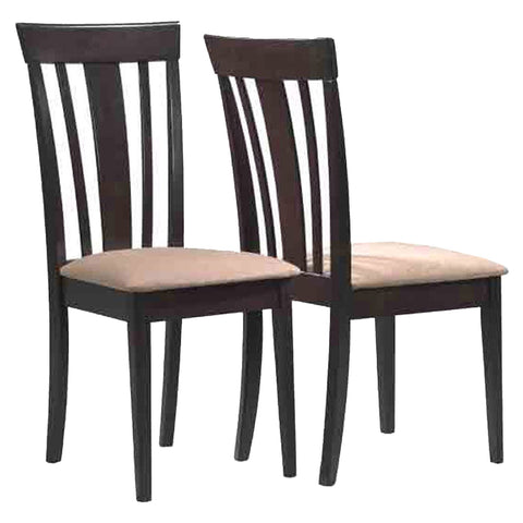 "Dara Dining Chair - 2Pcs / 38""H / Cappuccino With Microfiber (4399744548916)"