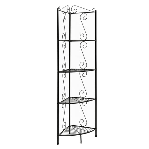 "Carlena Bookcase - 70""H / Copper Metal Corner Etagere (4396717539380)"