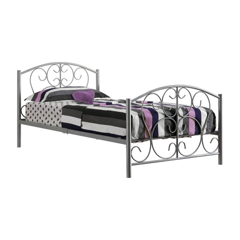 Eloise Bed - Twin Size / Silver Metal Frame Only