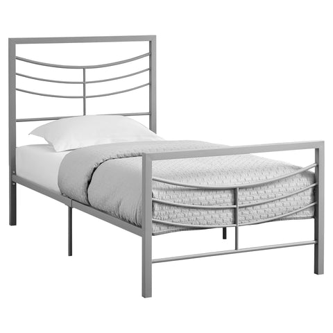 Florencia Bed - Twin Size / Silver Metal Frame Only (4397503021108)